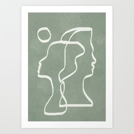 Abstract Faces Art Print