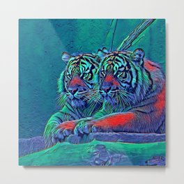 AnimalBlue_Tiger_001_by_JAMColors Metal Print