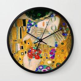 The Kiss by Gustav Klimt Wall Clock