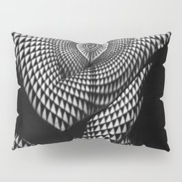 0622-JAL Heart Shape Pattern on Breasts and Nude Body Abstracted by Optical Patten Pillow Sham