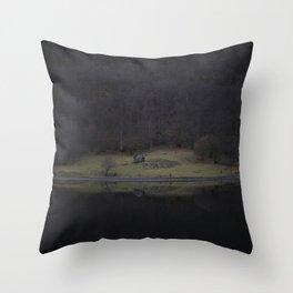 Violet island (Fjord) Throw Pillow