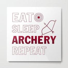 Archery repeat Metal Print