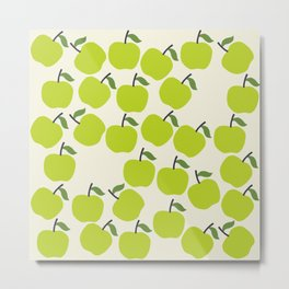 Green Apple Pattern Metal Print