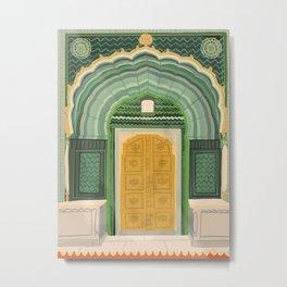 Green Gate Jaipur  Metal Print