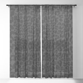 Goth Black Leopard Sheer Curtain