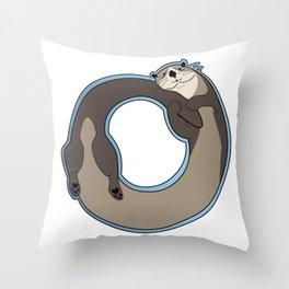 Otterboros - Otter Ring Throw Pillow