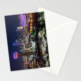 Dallas, Texas Skyline in honor of Memorial Day Stationery Cards