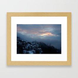 PASTEL SUNSET FURIGEN Framed Art Print