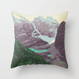 Yoho National Park Poster Throw Pillow