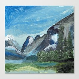 Acrylic Mountain Scene Canvas Print