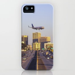 Airplane over San Diego iPhone Case