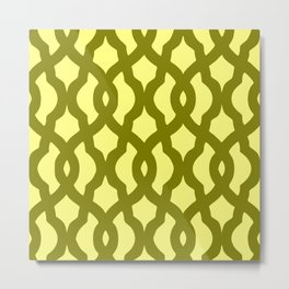 Grille No. 2 -- Yellow Metal Print
