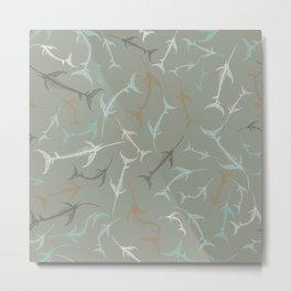 Fish Bone Collection - Sand Stone Metal Print