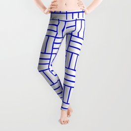 Basketweave (Blue & White Pattern) Leggings
