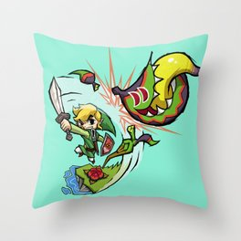 Legend of Zelda Wind Waker Boko Baba T-Shirt Throw Pillow