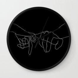 Black Pinky Swear Wall Clock