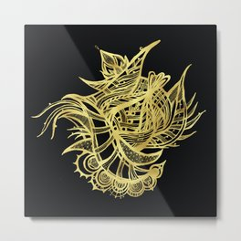 GOLDEN BEAUTY - GOLD ON BLACK Metal Print