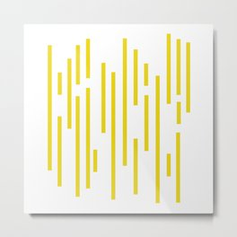 Minimalist Lines – Yellow Metal Print