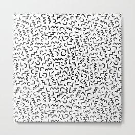 Hand Drawn Pattern Metal Print