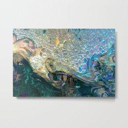 Sea Nymph Abstract Metal Print