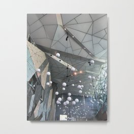 The Atrium Lights Metal Print
