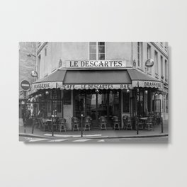 Le Descartes B&W Metal Print