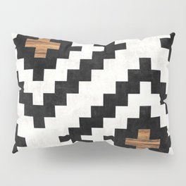 Urban Tribal Pattern No.16 - Aztec - Concrete and Wood Pillow Sham