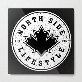 North Side Lifestyle (white) Metal Print
