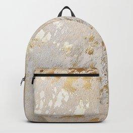 Gold Hide Print Metallic Backpack
