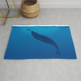 The Whale and a Human Rug