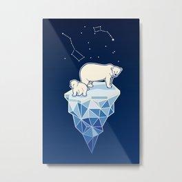 Polar bears on iceberg Metal Print