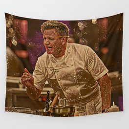 Gordon Ramsay Artistic Illustration Sparkle Style Wall Tapestry