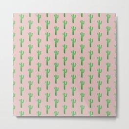Blushing Cactus Metal Print