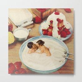 Fruity - Strawberries & Cream Metal Print