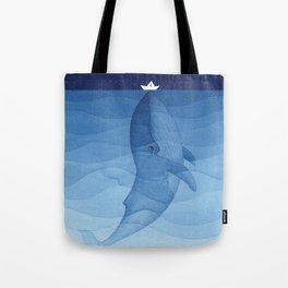 Whale blue ocean Tote Bag
