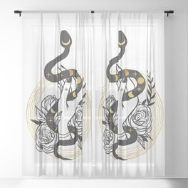 Snake Hand Sheer Curtain