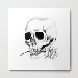 Skull Mariachis Metal Print