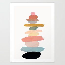 Balancing Stones 22 Art Print