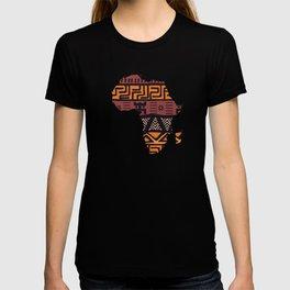 Africa Map Pattern T-shirt