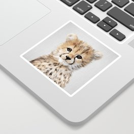Baby Cheetah - Colorful Sticker