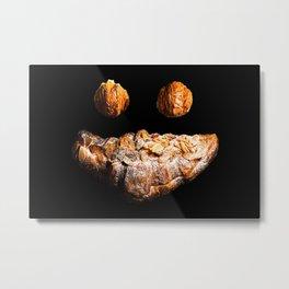 Concept - Croissant Smile Metal Print