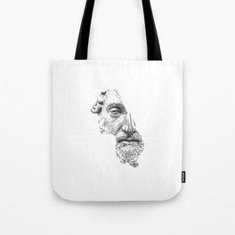 MARCUS AURELIUS ANTONINUS AUGUSTUS / black / white Tote Bag