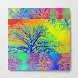 Rainbow Trees Metal Print