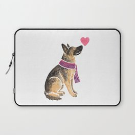 Watercolour German Shepherd Dog Laptop Sleeve