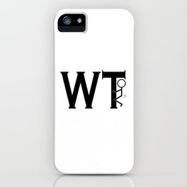 What The Fuck WTF Black Typography Humping Stickman iPhone Case