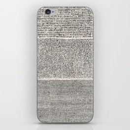 The Rosetta Stone // Antique White iPhone Skin