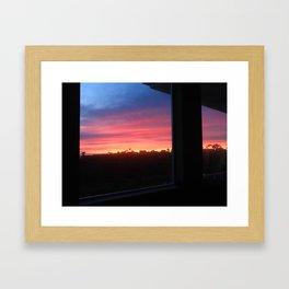 PEERING THROUGH THE WINDOW IN WINTER Framed Art Print