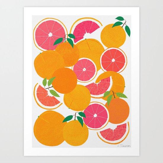 Grapefruit Harvest by leannesimpsonart