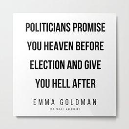 24      Emma Goldman Quotes   200602 Metal Print