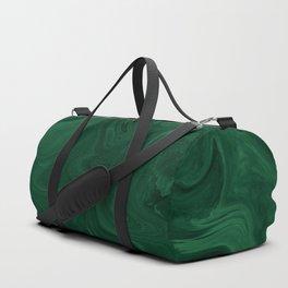 Modern Cotemporary Emerald Green Abstract Duffle Bag